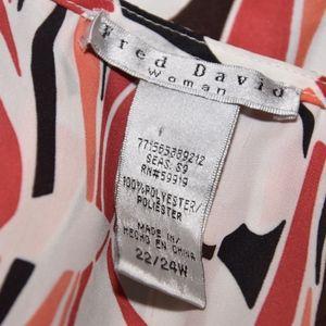 Fred David Tops - Fred David Tunic Blouse Size 22 / 24W